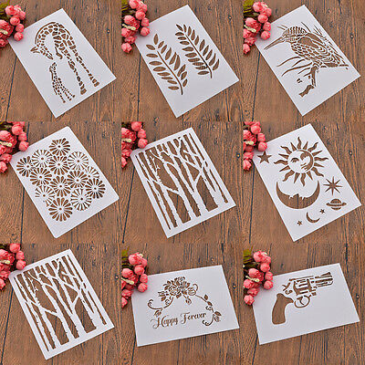 Wall Drawing Stencils DIY Decor Furniture Template Various Patterns Reusable