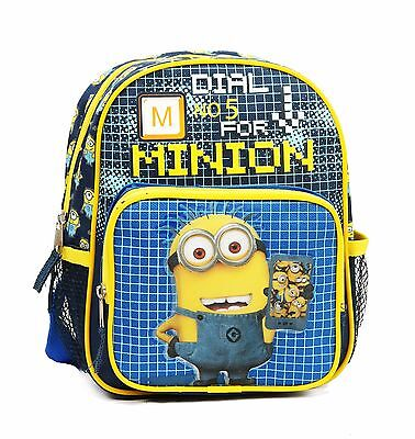 "Despicable Me Minion 3D 10"" Mini Backpack School kids boys girls"
