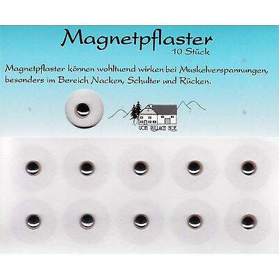 10 Magnetpflaster Magnetfeld Pflaster Verspannung Muskel ca. 600 Gauss