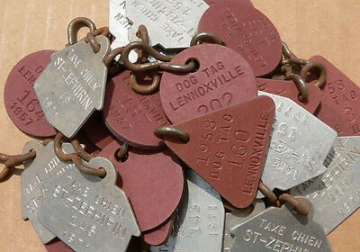 30 Lennoxville & St-Zephirin Quebec dog license tags 1957-58 & 71 FREE SHIPPING!