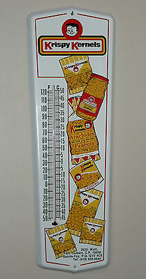 Rare Canadian KRISPY KERNELS nuts tin thermometer sign FREE SHIPPING!