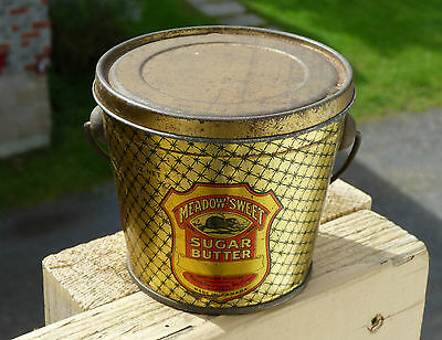 Rare Canadian MEADOW SWEET 14oz SUGAR not peanut butter tin can FREE SHIPPING!