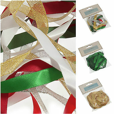 Christmas Assorted Ribbon Bundle Pack 10 x 1m For Card Making Sewing Art Craft