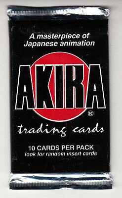 AKIRA 1988 Japanese Animated Cyberpunk Action Film 10 Cards 1994 FACTORY SEALED