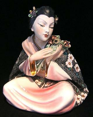 Vincenzo Bertolotti for Lenci Japanese Geisha Figure- 1940's