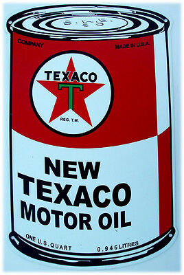 "Texaco Motor Oil Can Metal Sign ( 34' by 20"" )"