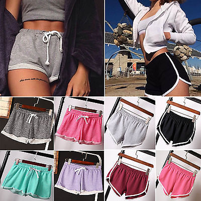 Summer Womens Casual Running Yoga Sports Shorts Gym Workout Waistband Hot Pants