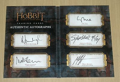 2016 Cryptozoic Hobbit Battle 5 Five Armies autograph in hand quintuple R5