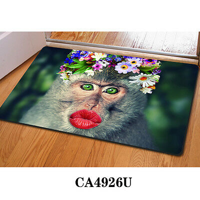 New Special Animals Monkey Floor Mat Bath Kitchen Home Living Room Carpet Entry