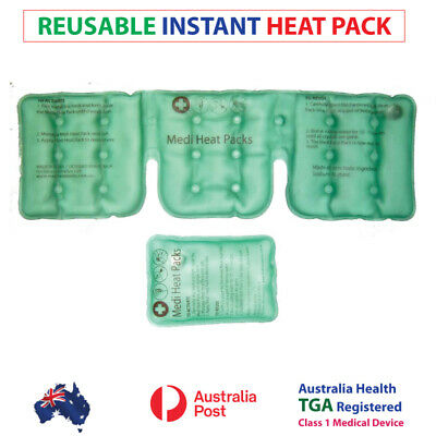NEW!! Instant Heat Pack Neck Heat pack, Reusable Heat packs PLUS FREE small pack