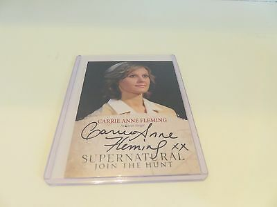 Carrie Ann Fleming autographed collectors card from Supernatural