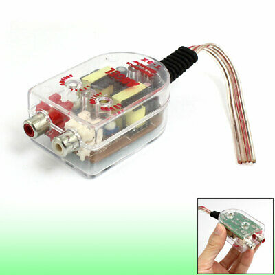 Vehicle Car High to Low Impedance Converter Adapter Speaker to RCA Line