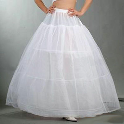 New Gown Dress Underskirt Petticoat Skirt 3 Hoop 2 Layer Wedding Bridal