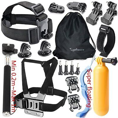 20in1 Accessories Kit Set for GoPro Hero 2 3 3+ 4 5 SJCAM Head Chest Strap Pole