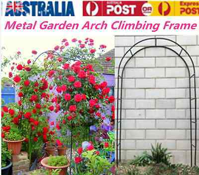 Garden Wedding Arch Garden Climbing Frame Arches Iron Outdoor Arbour Gate AU