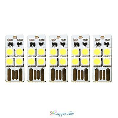 5X Mini Portable Usb 4 Led Light Reading Camping Outdoor Emergency Touch Switch