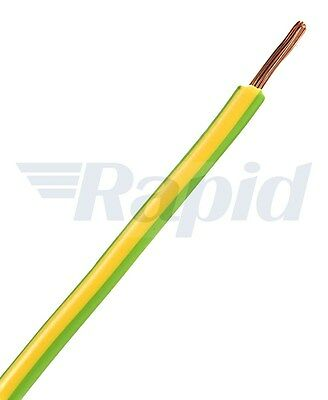 Unistrand Control Switchgear Wire Tri-Rated Green/Yellow 1mm 100m