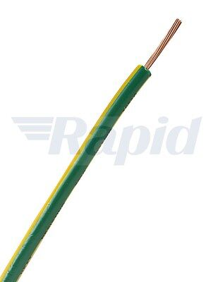 Unistrand Control Switchgear Wire Tri-Rated Green/Yellow 0.75mm 100m