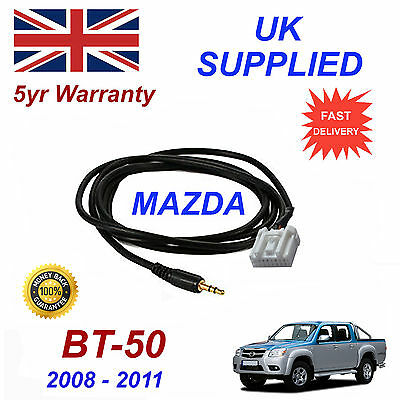 Mazda BT-50 AUX 3.5mm Input Audio cable High Quality Sound model year 08-11