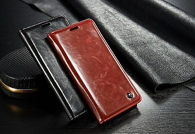 Luxury Genuine Leather Magnetic Flip Case Wallet Cover For iPhone 6 plus/Samsung