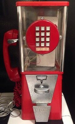 Vintage Telephone & Gumball Machine Phone by Paul Nelson Industries Ultra Rare