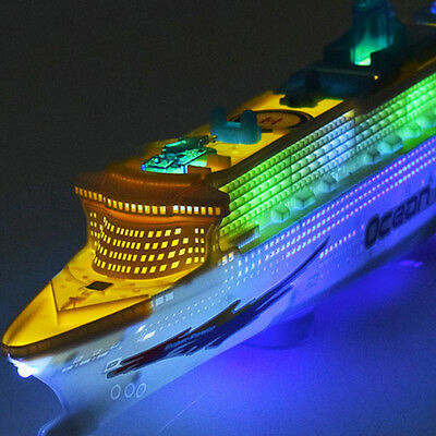 50cm Ocean Liner Ship Model With Flashing Lights &Sound Electric Cruises Kid Toy