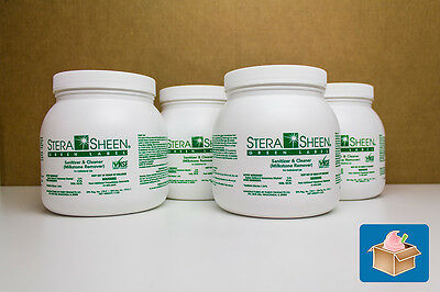 Stera Sheen Green Label Sanitizer - Case of 4 Jars - SSG44