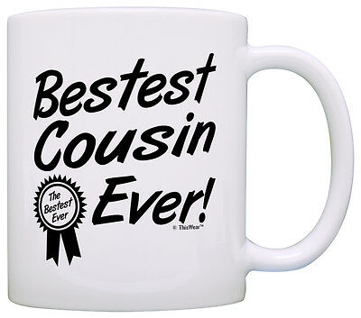Birthday Gift For Cousin Bestest Best Ever Award Coffee Mug Tea Cup