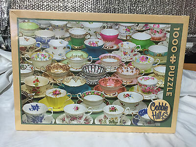Cobble Hill 1000 Piece Teacups Puzzle - Brand New Factory Sealed