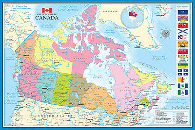 Map of Canada Poster Print, 36x24