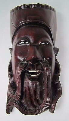 old Carved Asian Long Bearded Sensei Exquisite Detailing Eyes Teeth -ma2