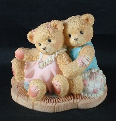 "Cherished Teddies, RUTH & GENE ""...We're Always Heart to Heart"" Figurine, 1998"