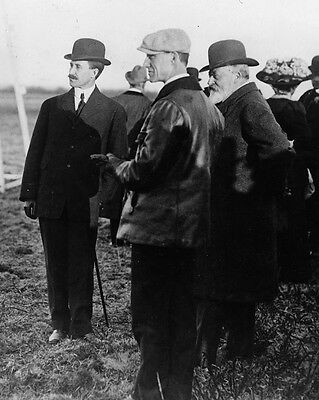New 8x10 Photo: King Edward VII with Orville and Wilbur Wright Brothers