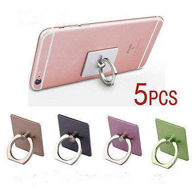 5 pcs 360° Finger Ring Smartphone Stand Holder For iPhone Smart Phone Brand New