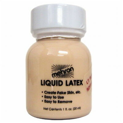 mehron Latex Liquid 1 oz - Light Flesh with Brush (GLOBAL FREE SHIPPING)