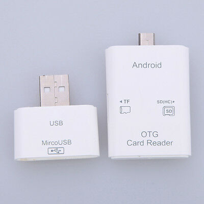3in1 Type C Micro USB OTG TF SD MS Card Reader USB 2.0 Adapter for Android Phone