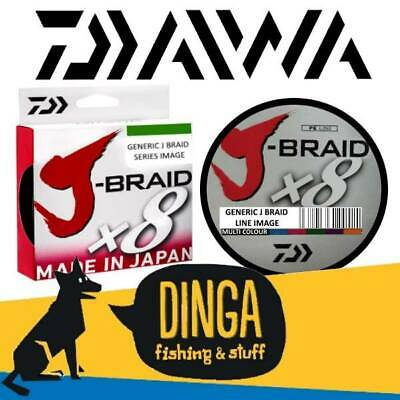 Daiwa J Braid 80lb 300m Braided Fishing Line -Multi Colour