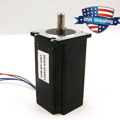 High Torque 3Nm (425oz.in) Nema 23 57mm Stepper Motor CNC Mill Lathe Router