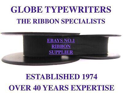 1 X 'olivetti Roma' *purple* Top Quality *10 Metre* Typewriter Ribbon + Eyelets