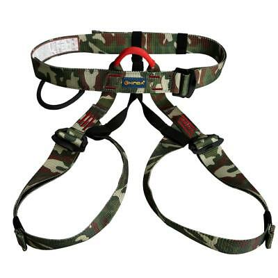 CAMOUFLAGE Half Body Rock Climbing Rappelling Safety Harness Belt Equipment