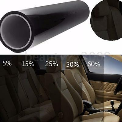 1%-50% Black Window Glass Tint Film VLT Roll Auto Car Office Commercial 3m-30m
