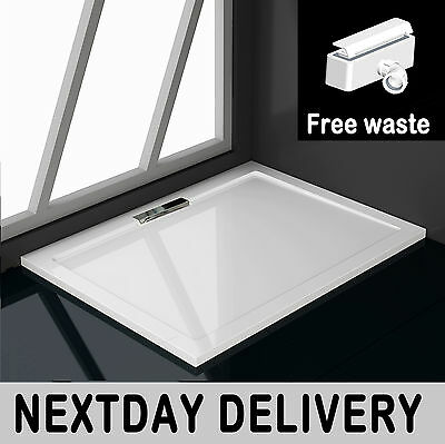 Aica 1000x800mm Rectangle Shower Enclosure Tray Hidden Waste NEXTDAY DELIVERY