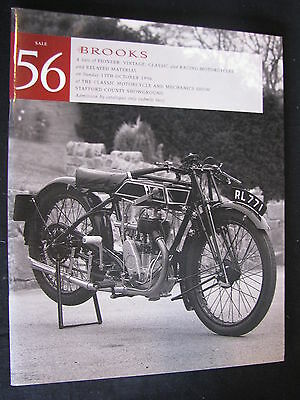 Brochure / Catalogue #56 Brooks Auction Motorcycles 13th October 1996 (JS)