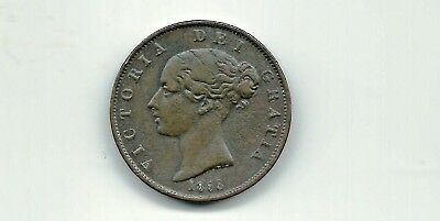 Great Britain Uk 1853 1/2 Penny Coin