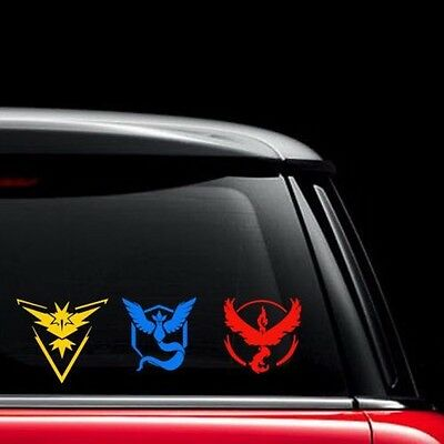 New Pokemon Go Vinyl Decal Sticker Team Instinct Mystic Valor Car Laptop Phone