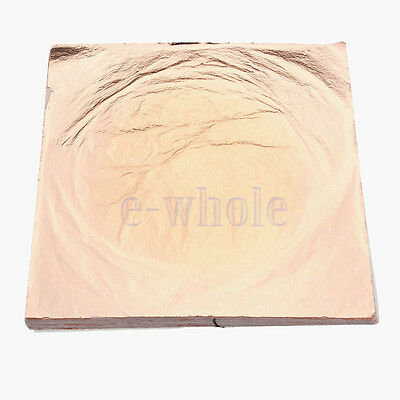 100X Copper Leaf Sheets/Leaves Sheets Gilding Craft 14cm Creative Useful Tool TW