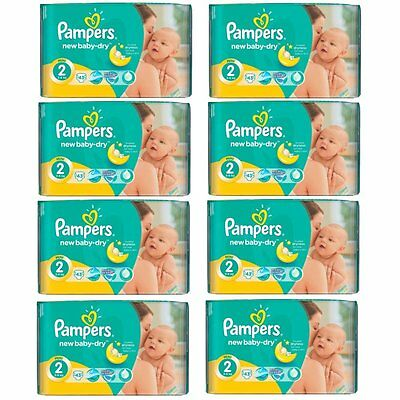 PAMPERS_Active New Baby Mini Windeln Gr.2 Mini 3-6 kg (8 x 43=344 Windeln)