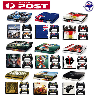 New Skin Sticker Cover For PS4 Playstation 4 Console+2 Controllers Vinyl Decal