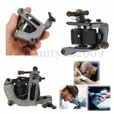 Pro Tattoo Machine 10 Wrap Coils Gun Liner Shader Steel Alloy Supply Lightweight