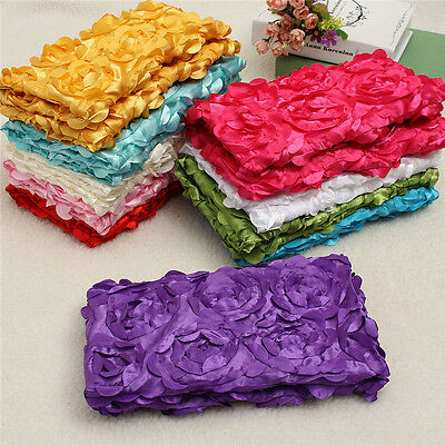 Newborn Baby Photo Rug 3D Rose Flower Backdrop Blanket Photography Props US